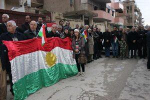 ENKS roja Alaya Kurdî li bajar û bajarokên Kurdistana Sûriyê vejand