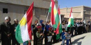 Girûpeke nenas êrîşî bargeha ENKS li Amûdê kirin û alaya Kurdî şewitandin