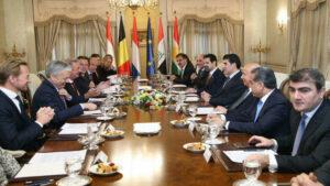 """Wezîrên derve yên """"Beneluks"""" serdana Herêma Kurdistanê dikin"""