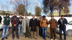 Girûpek ji ciwanên Kurd tevlî rêzên Pêşmergeyên Roj bûn